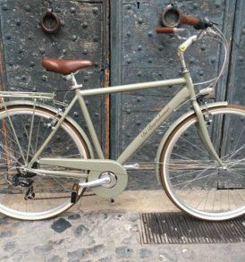 Bicicletta CITY BIKE Alluminio Uomo Verde Militare