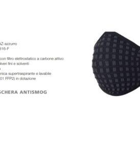 Maschera Antismog  con filtro elettrostatico a carbone attivo