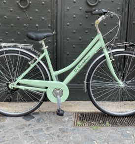 Bicicletta CITY BIKE Alluminio Donna Menta